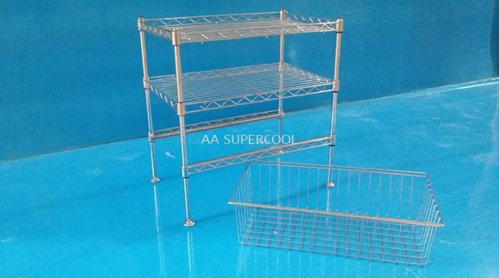 2 Tier Chrome Rack +1 Basket