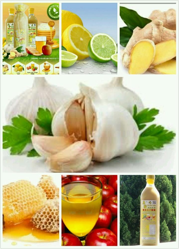 蒜姜蜜醋柠檬汁 具有神奇功效於 降低胆固醇及高血压 预防心肌梗塞 及中风 等等…