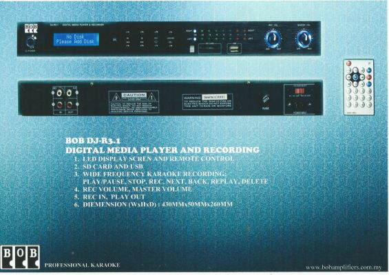 DJ-R3.1 Digital Media Player and Recording