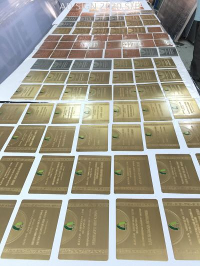 Takaful IKHLAS (GOLD / SILVER / BRONZE Etching Sign