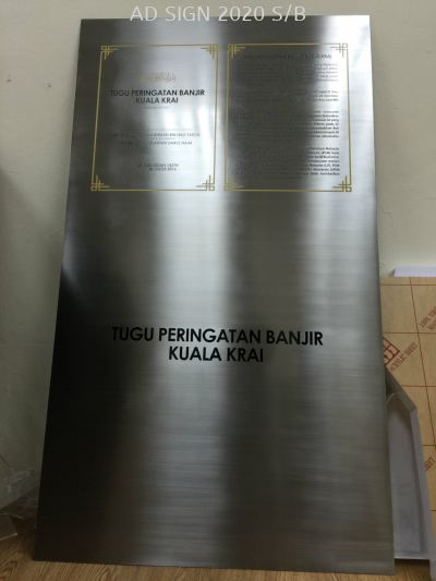 Etching Stainless Steel Signage