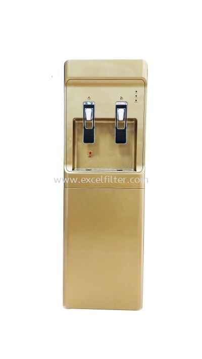 (FS-HC-W28+R-GOLD) Hot Cold Floor Standing Water Dispenser (Korea Model)-Bottle Type / Pipe In