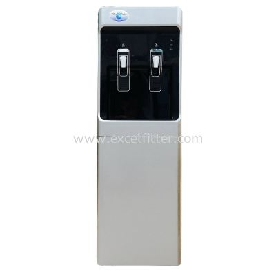 (FS-HC-W28+R-Grey) Hot Cold Floor Standing Water Dispenser (Korea Model)-Bottle Type / Pipe In