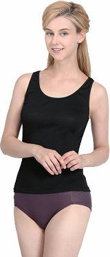 UW152 - Lady��s Black Sleeveless Undershirt