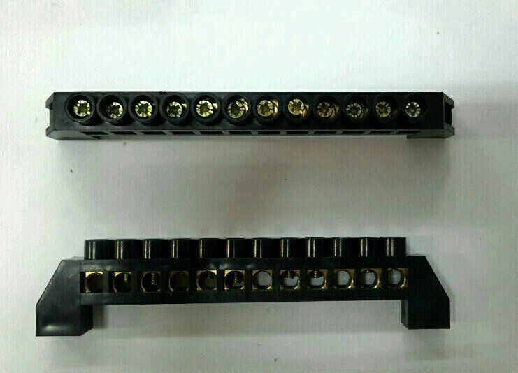 63A~12Way Insulated Neutral Link(Black) Neutral Link Electric Panel Accessories
