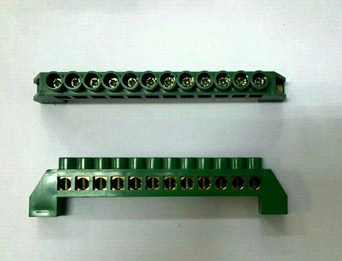 63A~12Way Insulated Neutral Link(Green) Neutral Link Panel Accessories