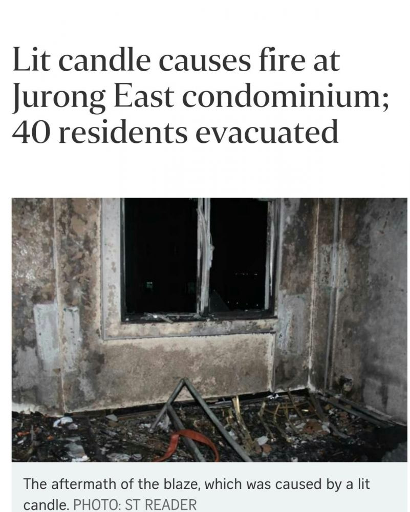 LIT CANDLE CAUSES FIRE (16/6/16)