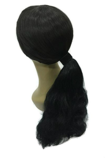 Long Curly Wave Ponytail Hair Extensions 40cm (Black)