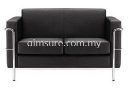 Arfino 2 Seat Office Leather Sofa (AIM015H-2)