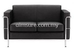 Arfino 2 Seat Office Leather Sofa (AIM015H-2)