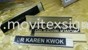 aluminium door sign slot in/out sign plates  Door  sign / table sign / glass door sign Interior Sign and Building Directory