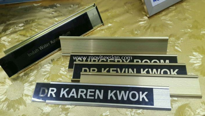 aluminium door sign slot in/out sign plates