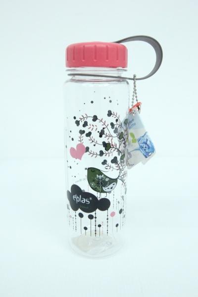 Eplas Colorful Art Water Bottle 550ML (Peach)