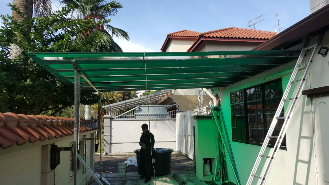Stainless Steel Canopy & Stainless Steel Canopy Polycarbonat Stainless Steel Awning Johor ...