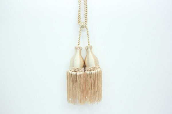 CK Plain Color Curtain Tassel (Small) Cream
