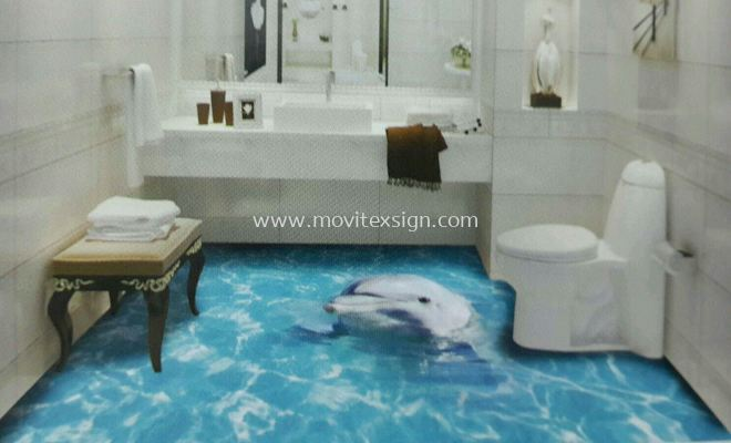 Home Deco printing , flooring 3D image to give yourself a new fleshing day to your home n your family's