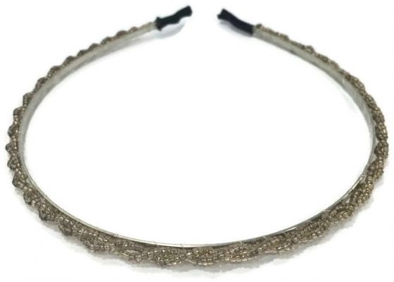 Small Beads Hair Band (Brown)