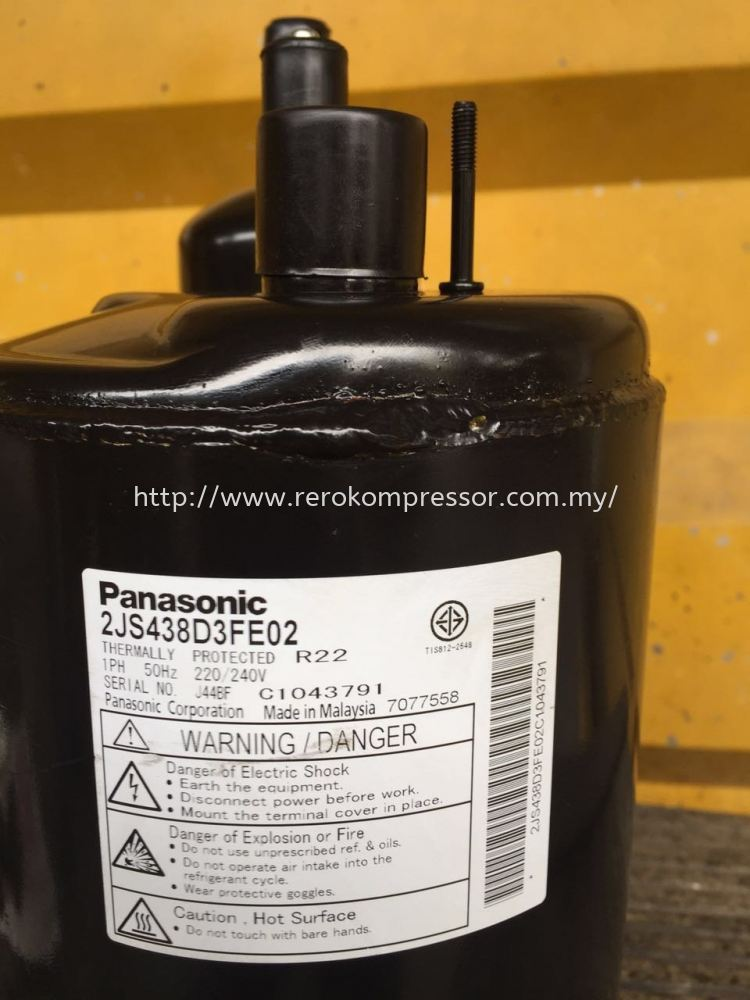 PANASONIC MALAYSIA AIR CONDITIONER COMPRESSOR MODEL 2JS438D3FE02