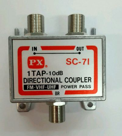 PX SC-71 2WAY SPLITTER DIRECTIONAL COUPLER 10DB FM-VHF-UHF (TAIWAN)