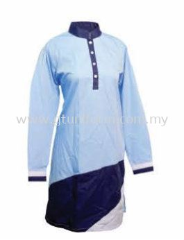 READY MADE UNIFORM MUSLIMAH H0717 (L.BLUE & N.BLE & WHITE)