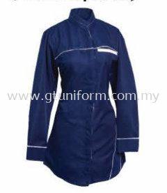 READY MADE UNIFORM MUSLIMAH H0106 (N.BLUE & WHITE)