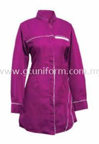 READY MADE UNIFORM MUSLIMAH H0107 ( PURPLE & WHITE)