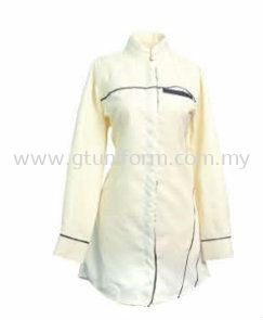 READY MADE UNIFORM MUSIMAH H0113 ( BEIGE & BLACK )