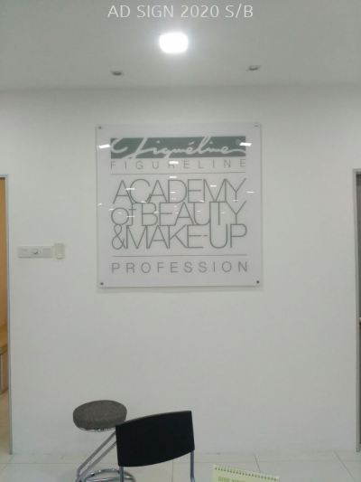 Acrylic Signage (Indoor) with S/Steel Spacer Nuts