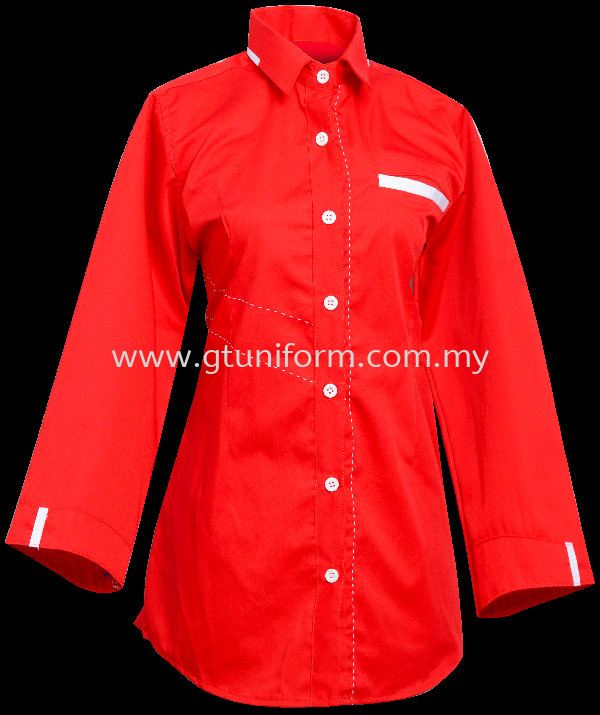 READY MADE UNIFORM F1101 (RED & WHITE)