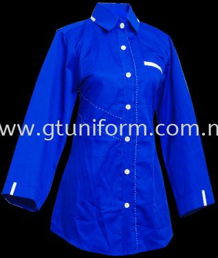 READY MADE UNIFORM F1105 (R.BLUE & WHITE)