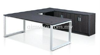 L shape cassia leg with credenza return n without modesty panel