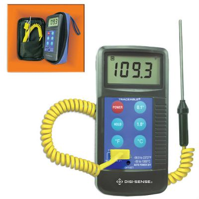 Digi-Sense Calibrated Workhorse Thermocouple Thermometer