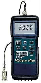 Heavy Duty Vibration/Acceleration/Velocity/Displacement Meter Vibration Measurement Cole-Parmer