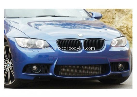 BMW 3 SERIES E92 2007 M3 LOOK FRONT BUMPER W/FOG LAMP COVER (PP)
