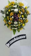 RIP Flower Arrangement (FA-137) Sympathy / Condolences Flower Arrangement Funeral Arrangement
