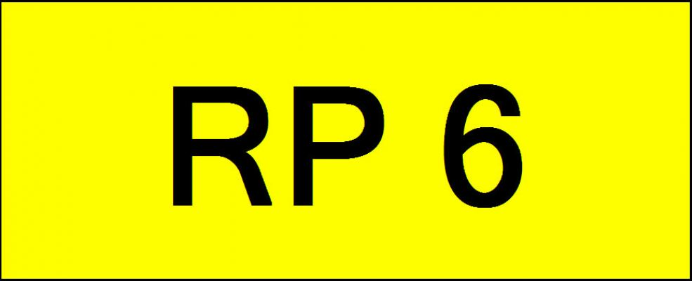 Number Plate RP6