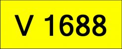 Number Plate V1688 Rare Classic Plate
