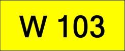 W103 Rare Classic Plate