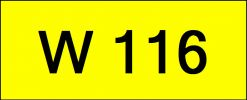 Number Plate W116 Rare Classic Plate