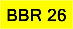 VIP Nice Number Plate (BBR26) All Plate