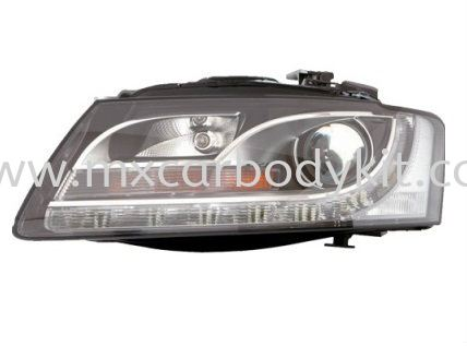 AUDI A5 2008 HEAD LAMP CRYSTAL PROJECTOR W/DRL (H7) HEAD LAMP ACCESSORIES AND AUTO PARTS