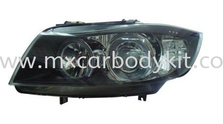 BMW E90 2005 HEAD LAMP CRYSTAL PROJECTOR W/RIM + LED SIGNAL HEAD LAMP ACCESSORIES AND AUTO PARTS