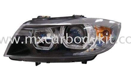 BMW E90 2005 HEAD LAMP PROJECTOR W/WHITE + LED RIM HEAD LAMP ACCESSORIES AND AUTO PARTS