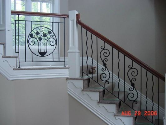 METAL RAILING AND SPIRAL STAIRCASE 100