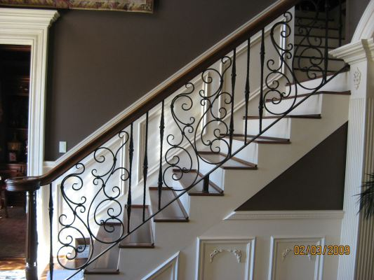 METAL RAILING AND SPIRAL STAIRCASE 97