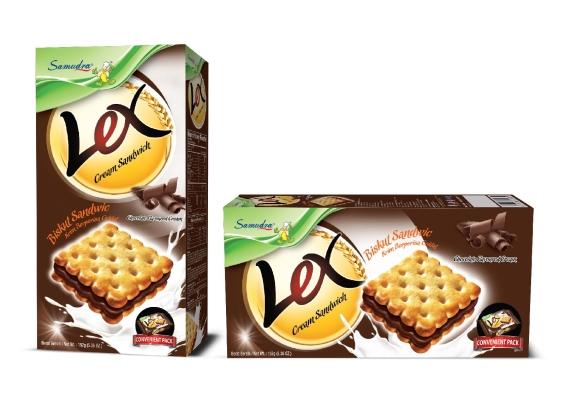 Lex Cream Sandwich (Chocolate Flavoured Cream)