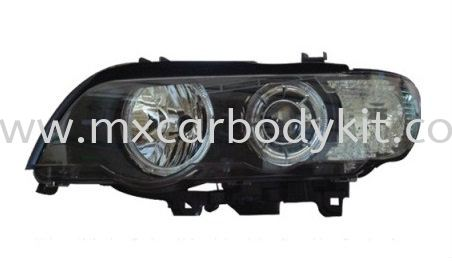 BMW X5 E53 2000 HEAD LAMP PROJECTOR W/LED RIM + MOTOR HEAD LAMP ACCESSORIES AND AUTO PARTS