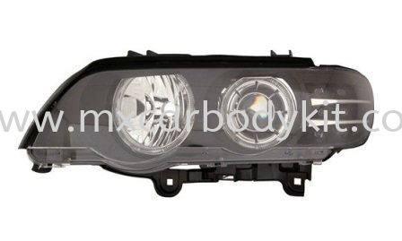 BMW X5 E53 2000 HEAD LAMP PROJECTOR W/LED RIM + MOTOR + LED SIGNAL HEAD LAMP ACCESSORIES AND AUTO PARTS