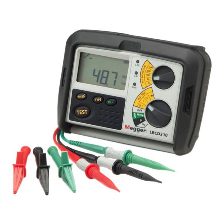 Megger LRCD200 Non-tripping loop and RCD tester  Combined Loop And RCD Tester  Megger