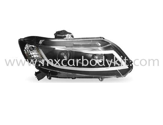 HONDA CIVIC 2012 & ABOVE HEAD LAMP PROJECTOR BLACK W/DRL HEAD LAMP ACCESSORIES AND AUTO PARTS